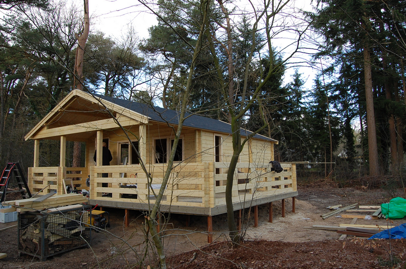Houten Chalet Bouwen : Chalet met veranda in diever u hout bouw wereld